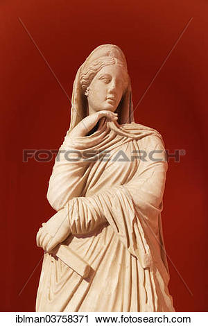 "Stock Photography of ""Archaeological Museum, marble statue of."