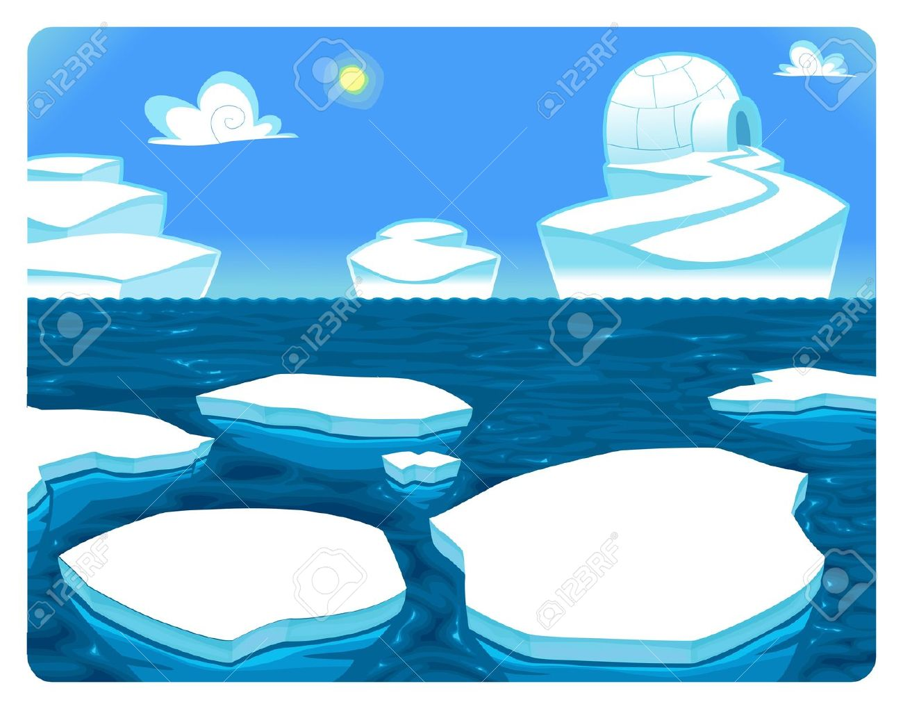 Antarctica Cartoon.