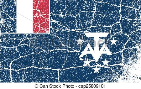 Vector Clipart of Flag of French Southern and Antarctic Lands with.