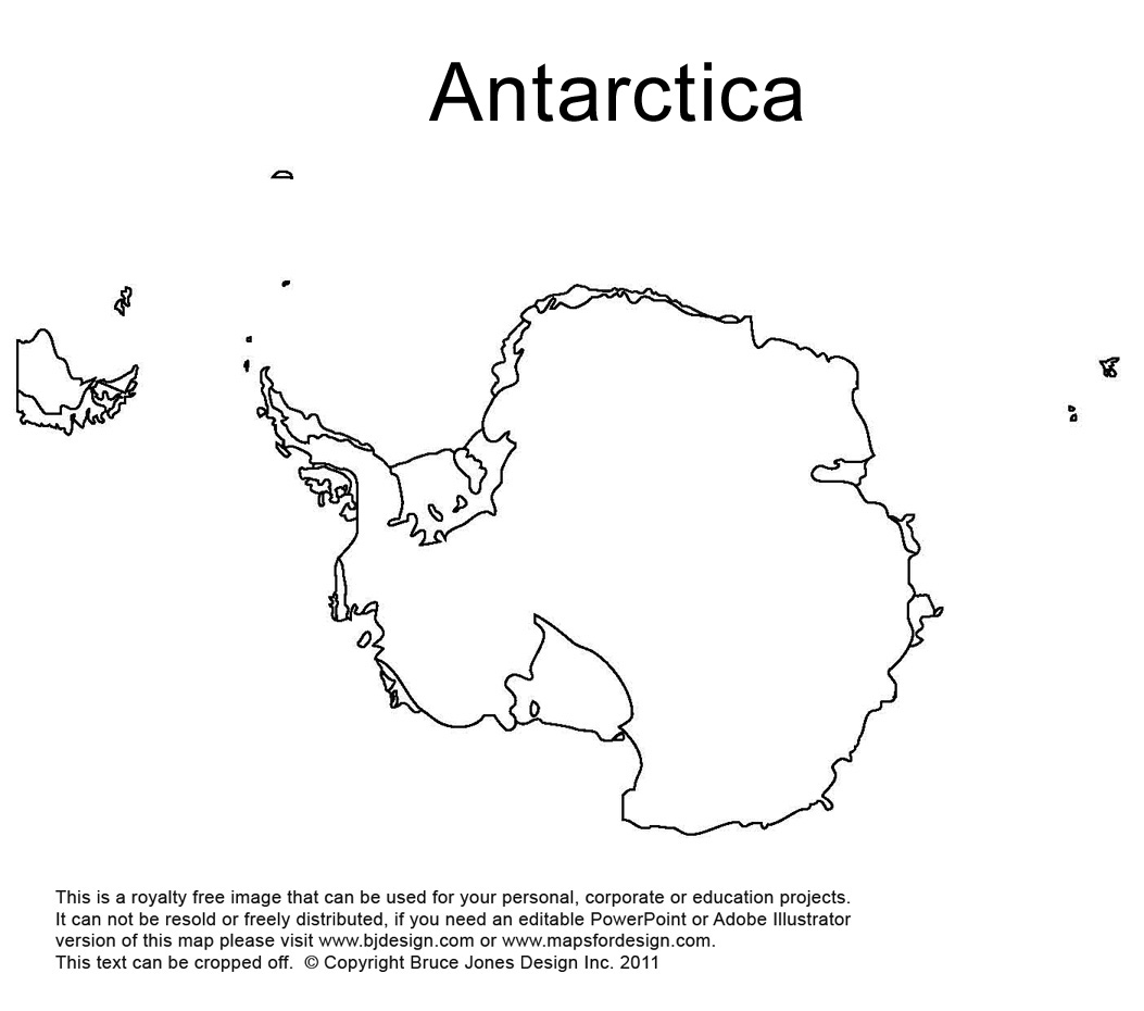 Outline Map Of Antarctica With Antarctic Clip Art Download.