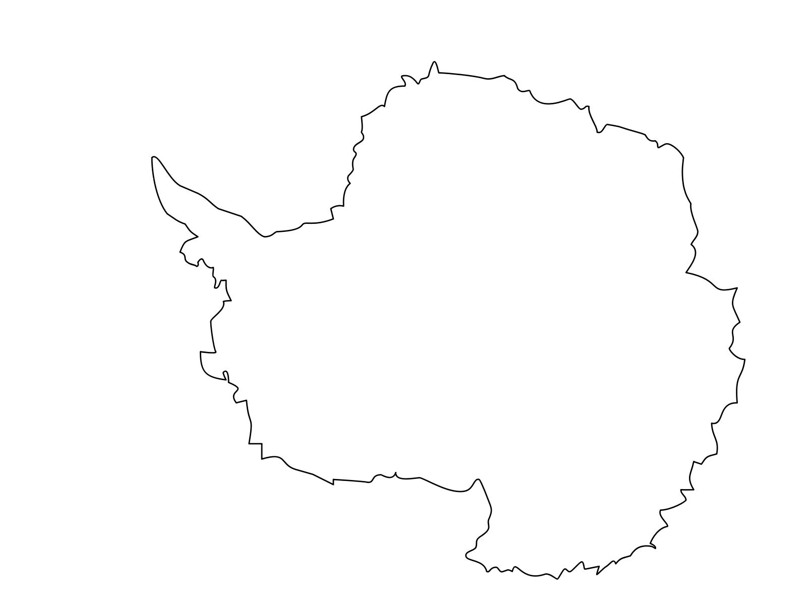 Montessori Antarctica Continent Map Clip art, Icon and SVG.