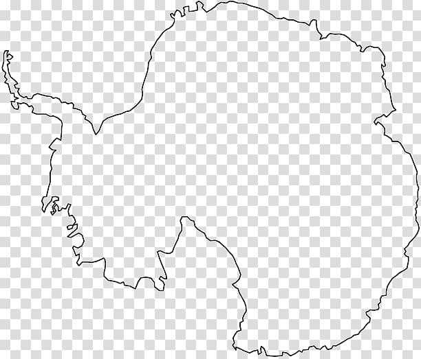 Antarctica Coloring book World map, map transparent.