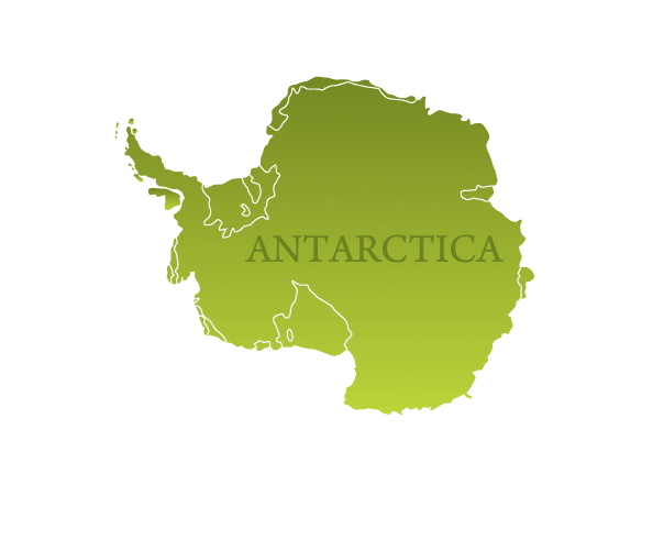 Antarctica Map With Navigation Icons.