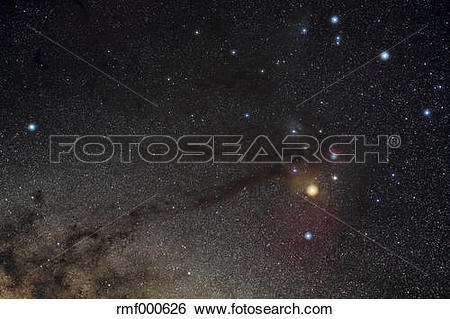 Stock Images of Scorpius, constellation, Antares region rmf000626.