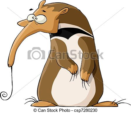 Cartoon animal clip art anteater.