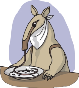 Anteater Eating From A Plate Clip Art at Clker.com.