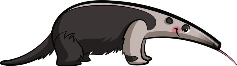 Cute anteater clipart.