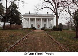 Old southern plantation homes. Preserved plantation slave.