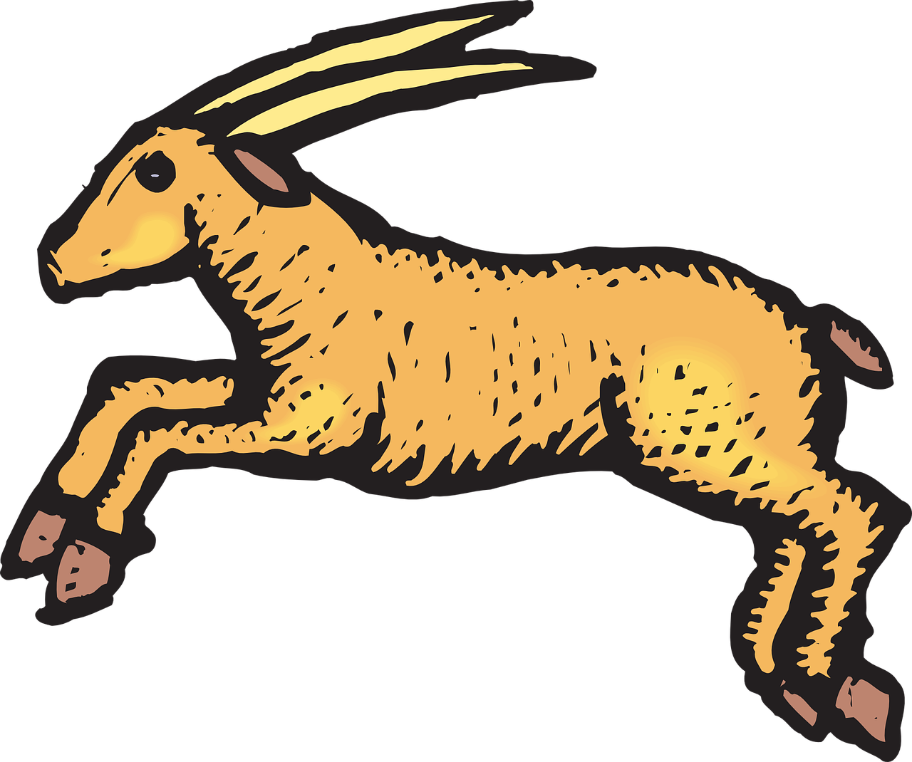 Antelope,jumping,animal,horns,hooves.