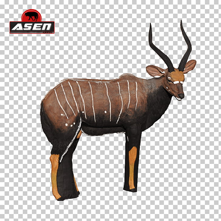 Antelope Horn Archery Nyala Animal, Funny Archery Shirts PNG.