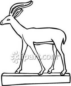 Black and White Statue of A Gazelle.