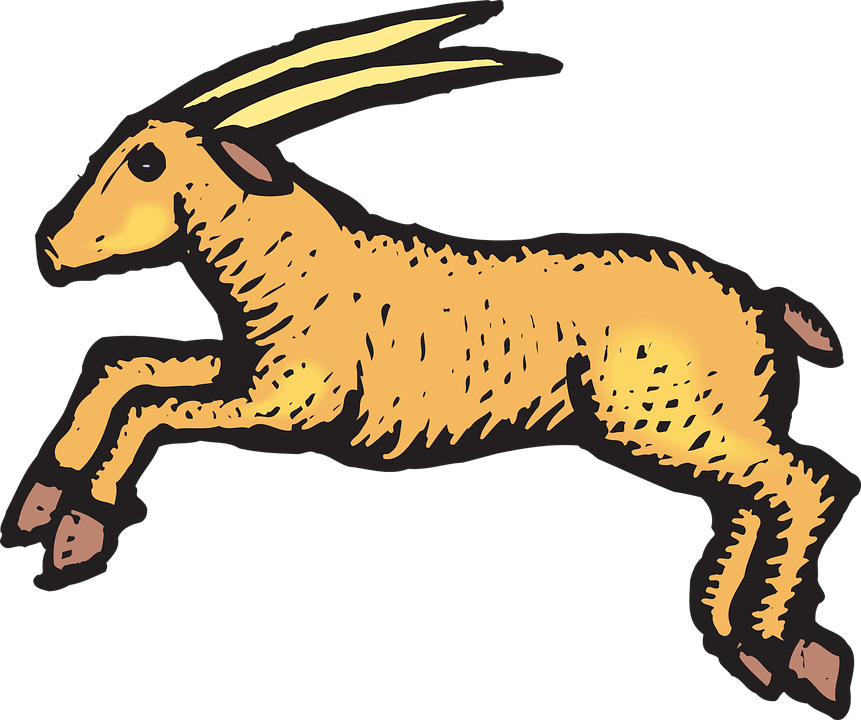 Free vector graphic: Antelope, Jumping, Animal, Horns.