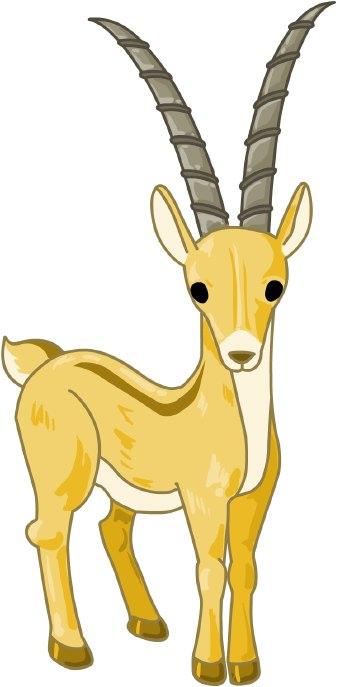 Antelope clip art.