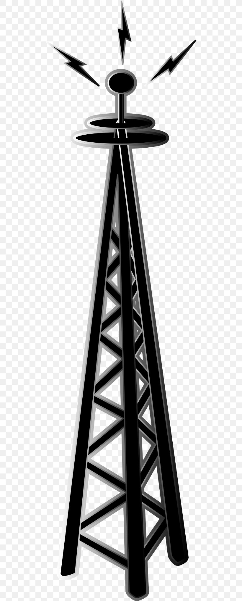 Cell Site Telecommunications Tower Antenna Clip Art, PNG.