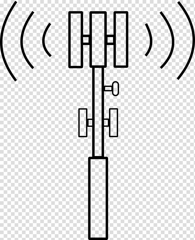 Black and blue signal illustration, Cell site.