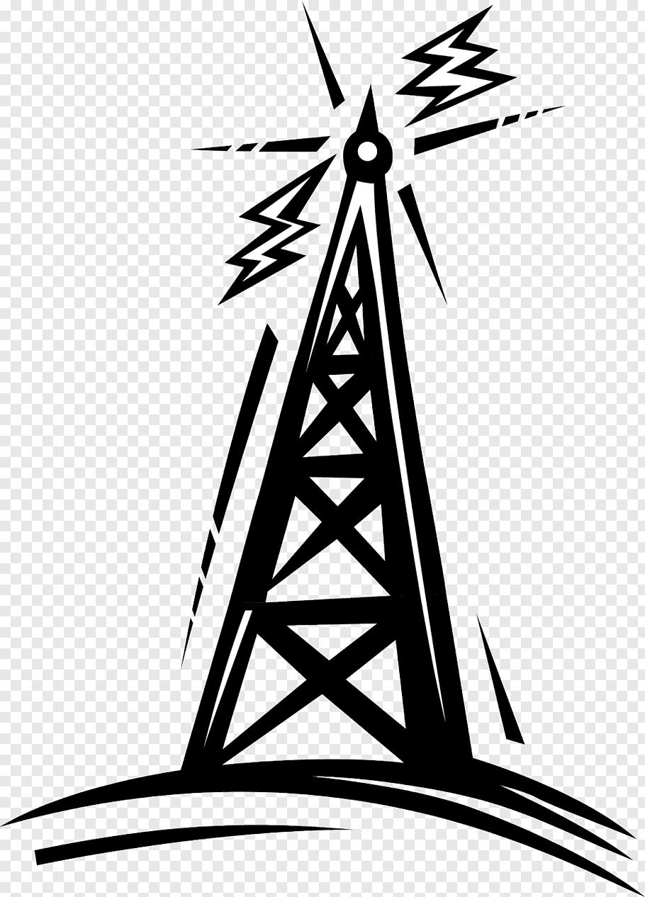 Signal tower illustration, Telecommunications tower Radio.