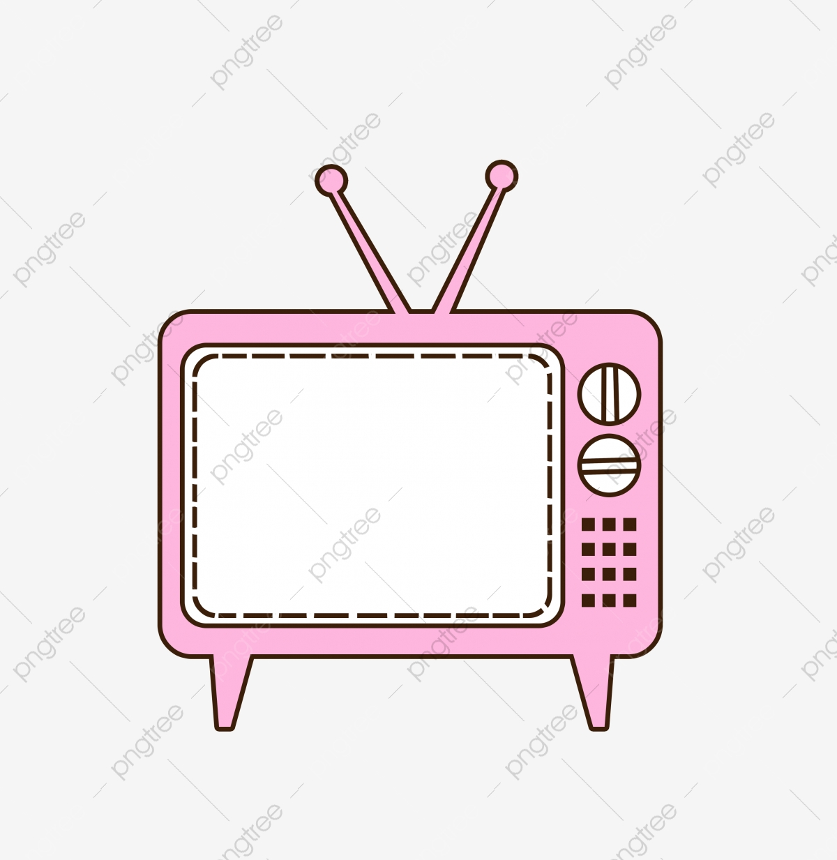 Antenna Tv, Tv Clipart, Old Tv, Reminiscence PNG Transparent Clipart.