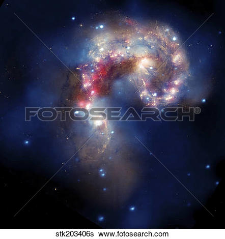 Stock Images of The Antennae Galaxies stk203406s.