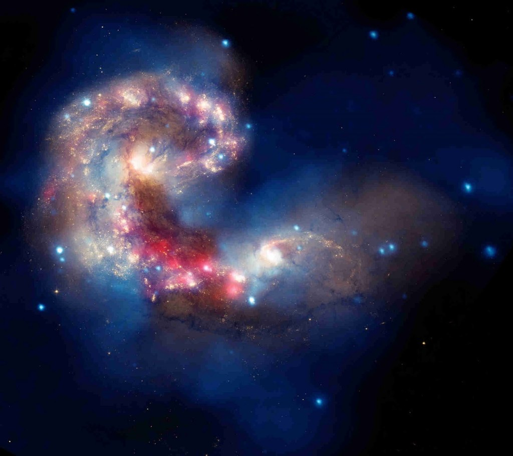 Free Antennae Galaxies For Astrology Ppt Template Backgrounds For.