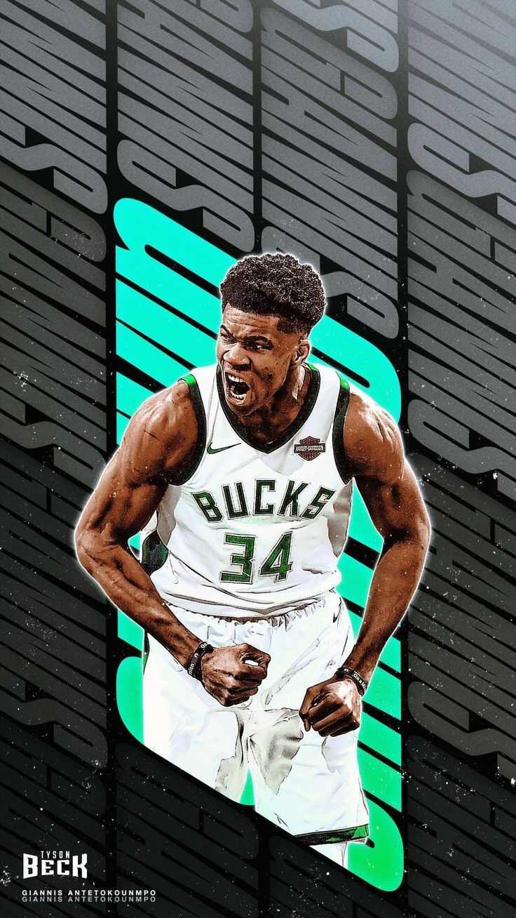 Giannis Antetokounmpo Wallpaper 4k Gold.