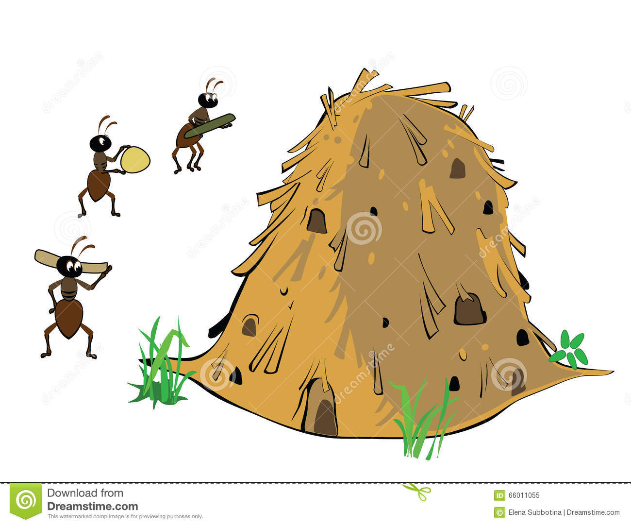 Anthill Stock Illustrations.