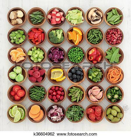 Stock Photo of Paleolithic Diet Food k36604962.
