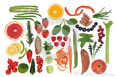 Paleolithic Diet Food Stock Photo.
