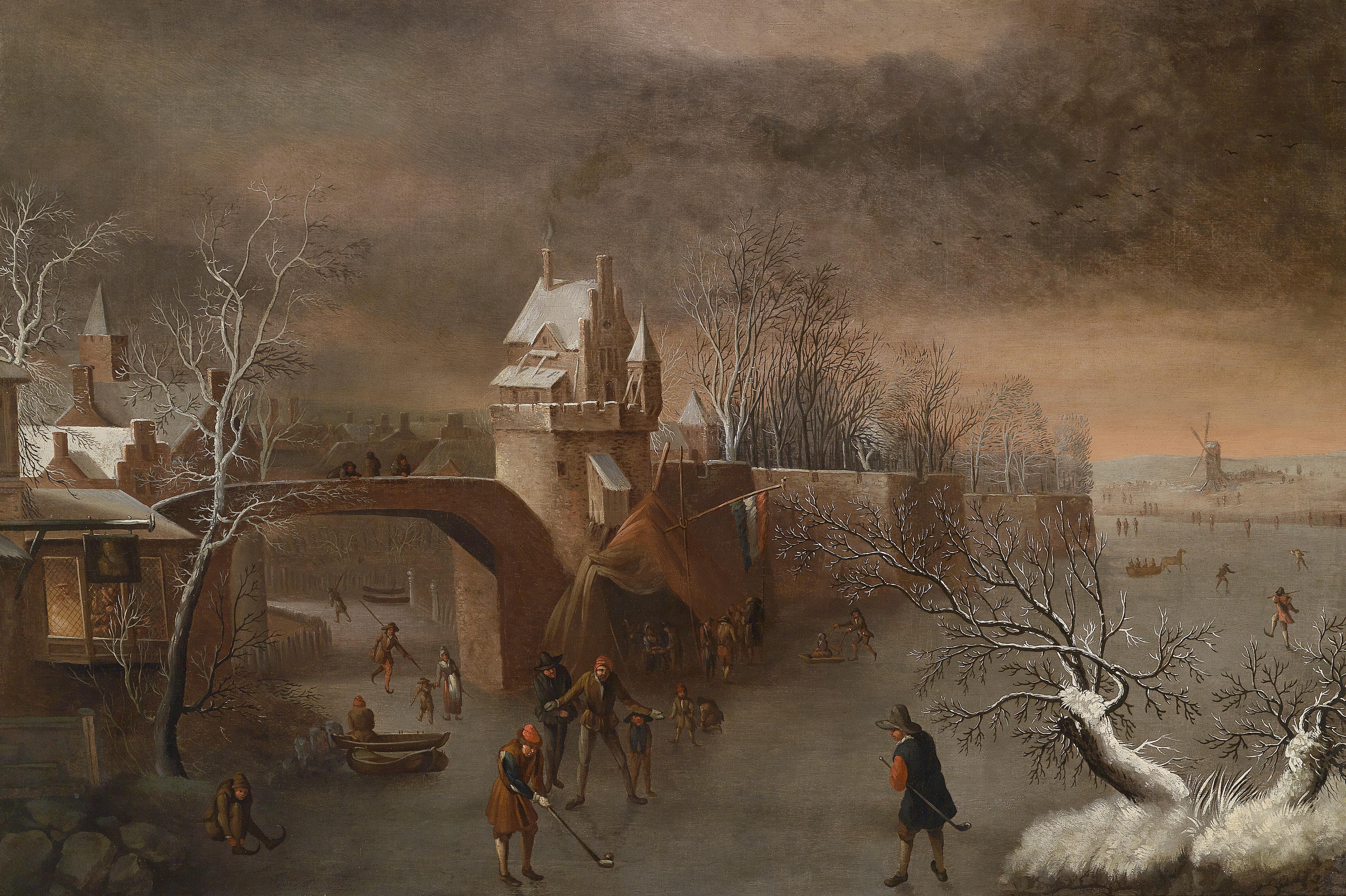 File:Anthonie Beerstraaten (attr) Eisvergnügen an der Stadtmauer.