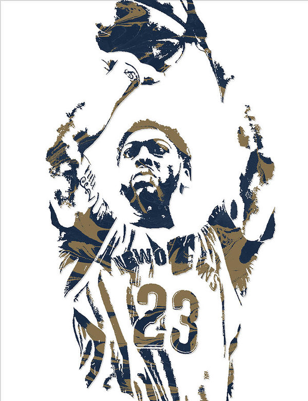 Anthony Davis New Orleans Pelicans Pixel Art 7 Art Print.
