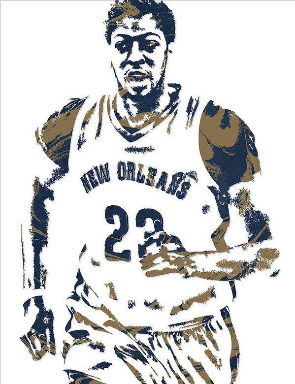 Anthony Davis New Orleans Pelicans Pixel Art 6 Art Print by.