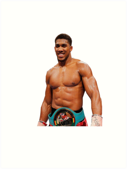 'Anthony Joshua Transparent Background Boxing' Art Print by RighteousOnix.