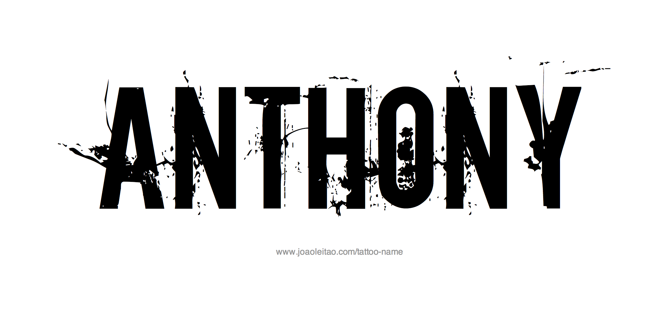 Anthony Name Tattoo Designs.