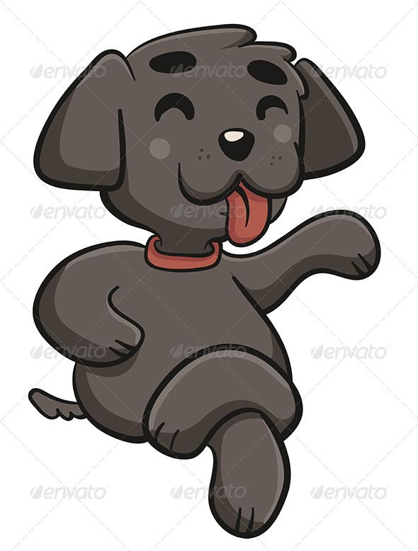 Dog with Crossed Legs #GraphicRiver Vector illustration of a.