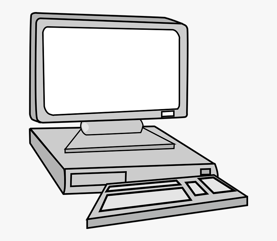 Computer Desktop Monitoring Keyboard Pc Mouse.