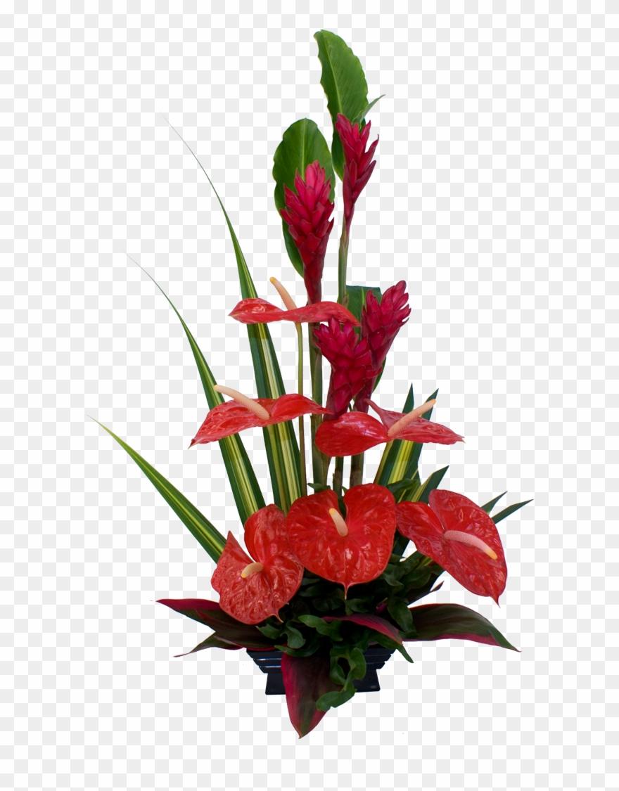 Red Tropical Flower Arrangement.