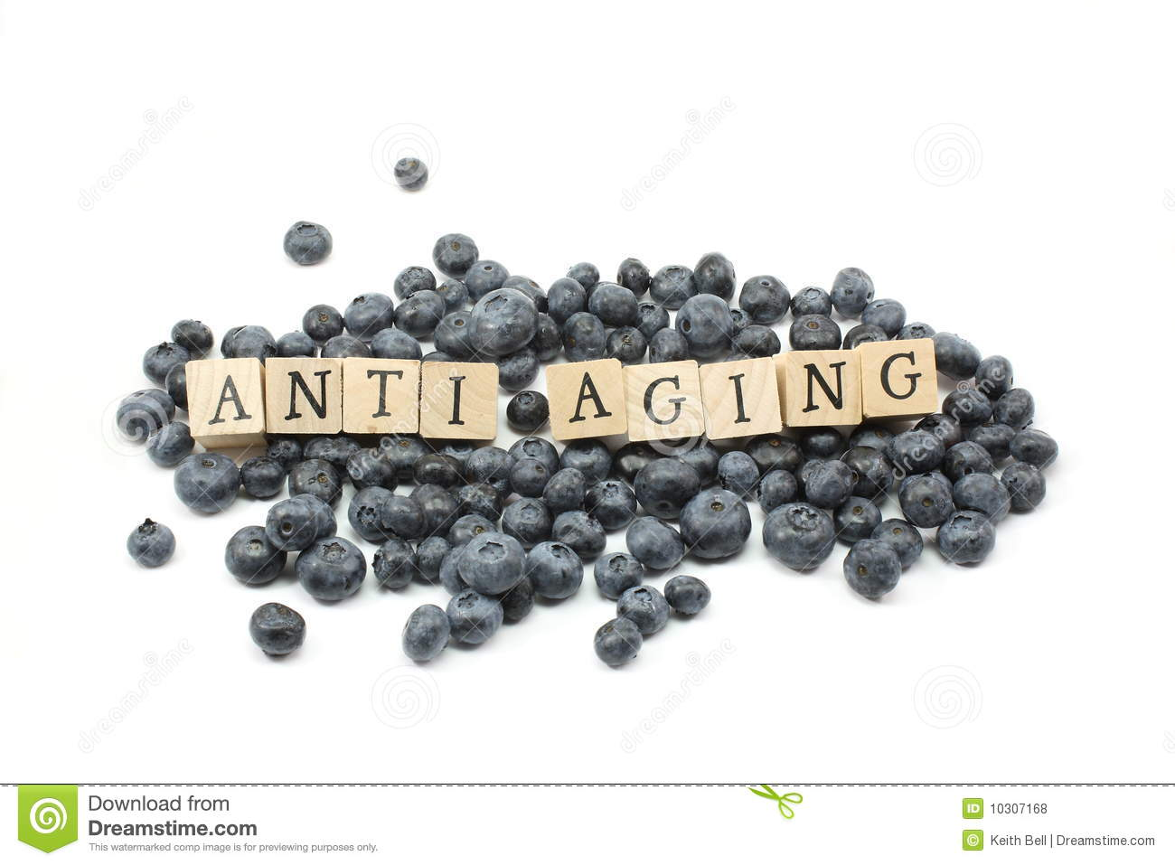 Anti Aging Blueberries Royalty Free Stock Photos.