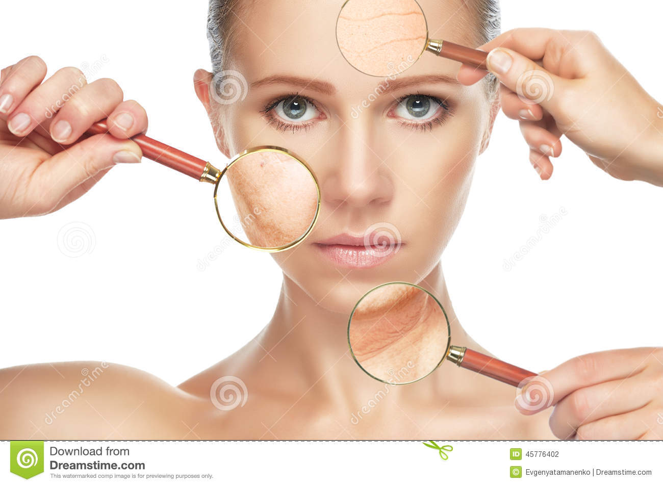 Beauty Concept Skin Aging. Anti.