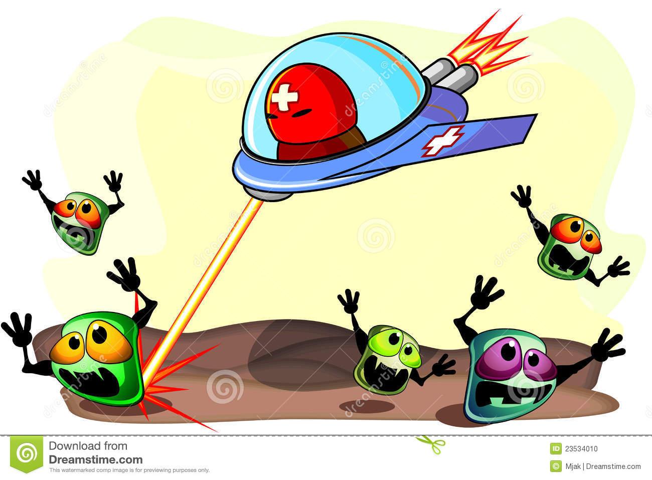 Antibacterial Action Stock Photo.