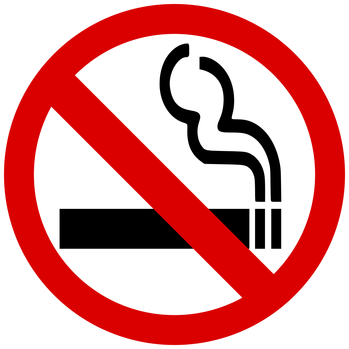No Smoking PNG Warning Images, No Cigarette Smoking Clipart.