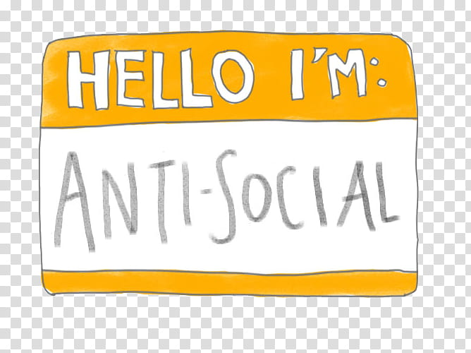 Hello Im Anti Social text transparent background PNG clipart.
