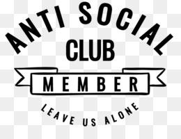 Anti Social Club PNG and Anti Social Club Transparent Clipart Free.