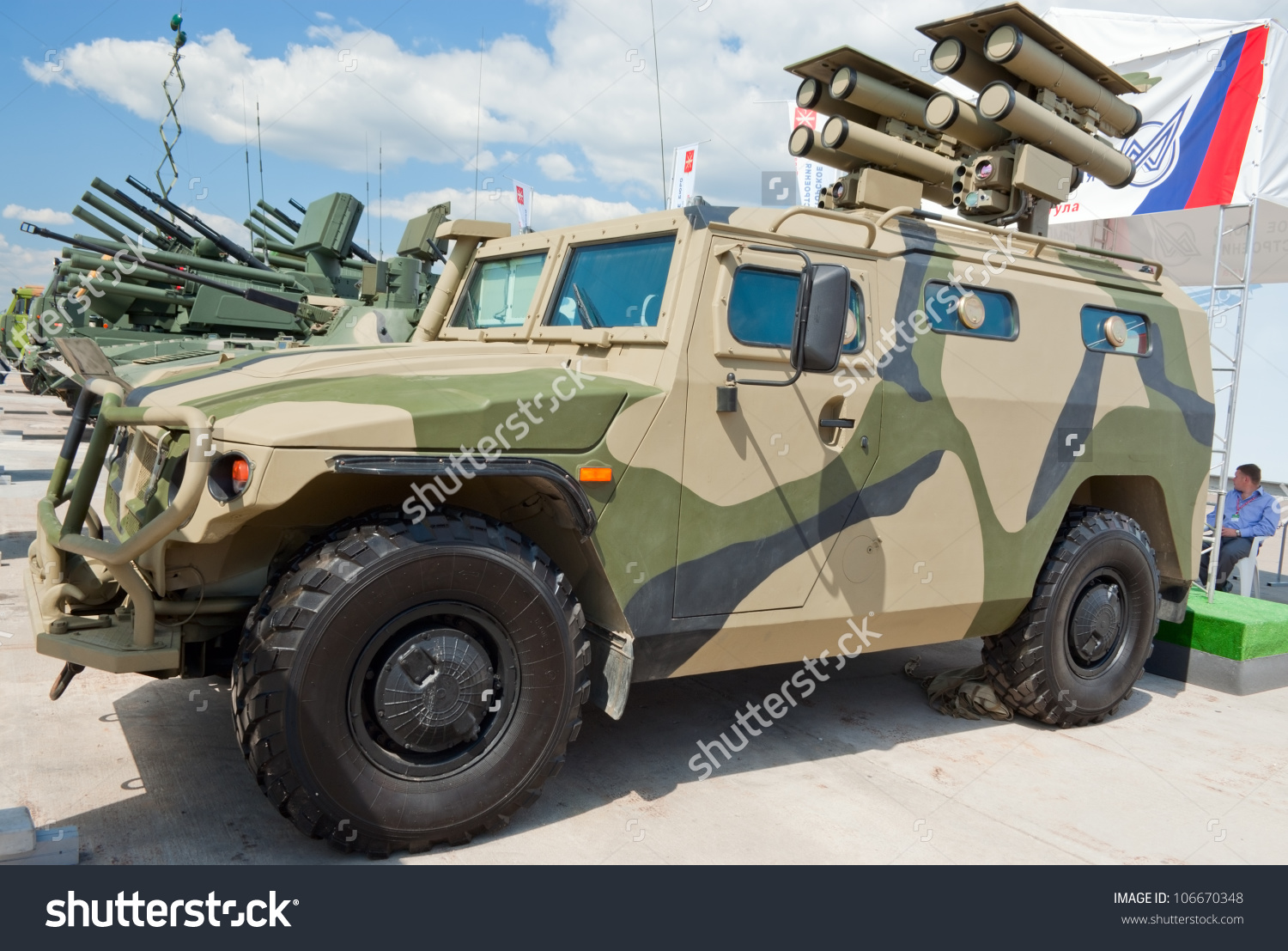 Zhukovsky Russia July 1 Gaz233036 Tigr Stock Photo 106670348.