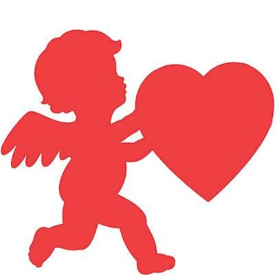 Cupid Cutouts for Valentine\'s Day decorations.