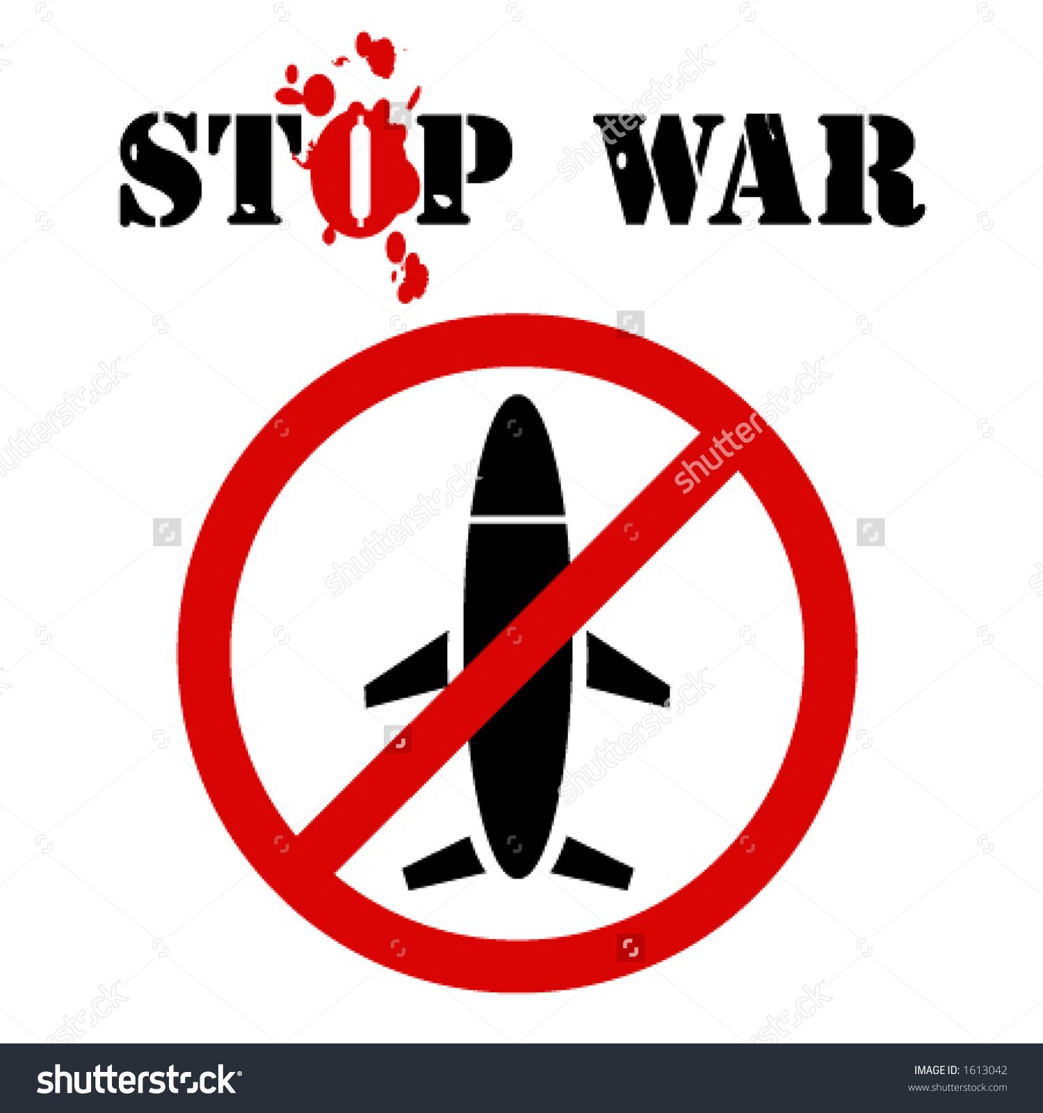 Stop War Sign Stock Vector 1613042.