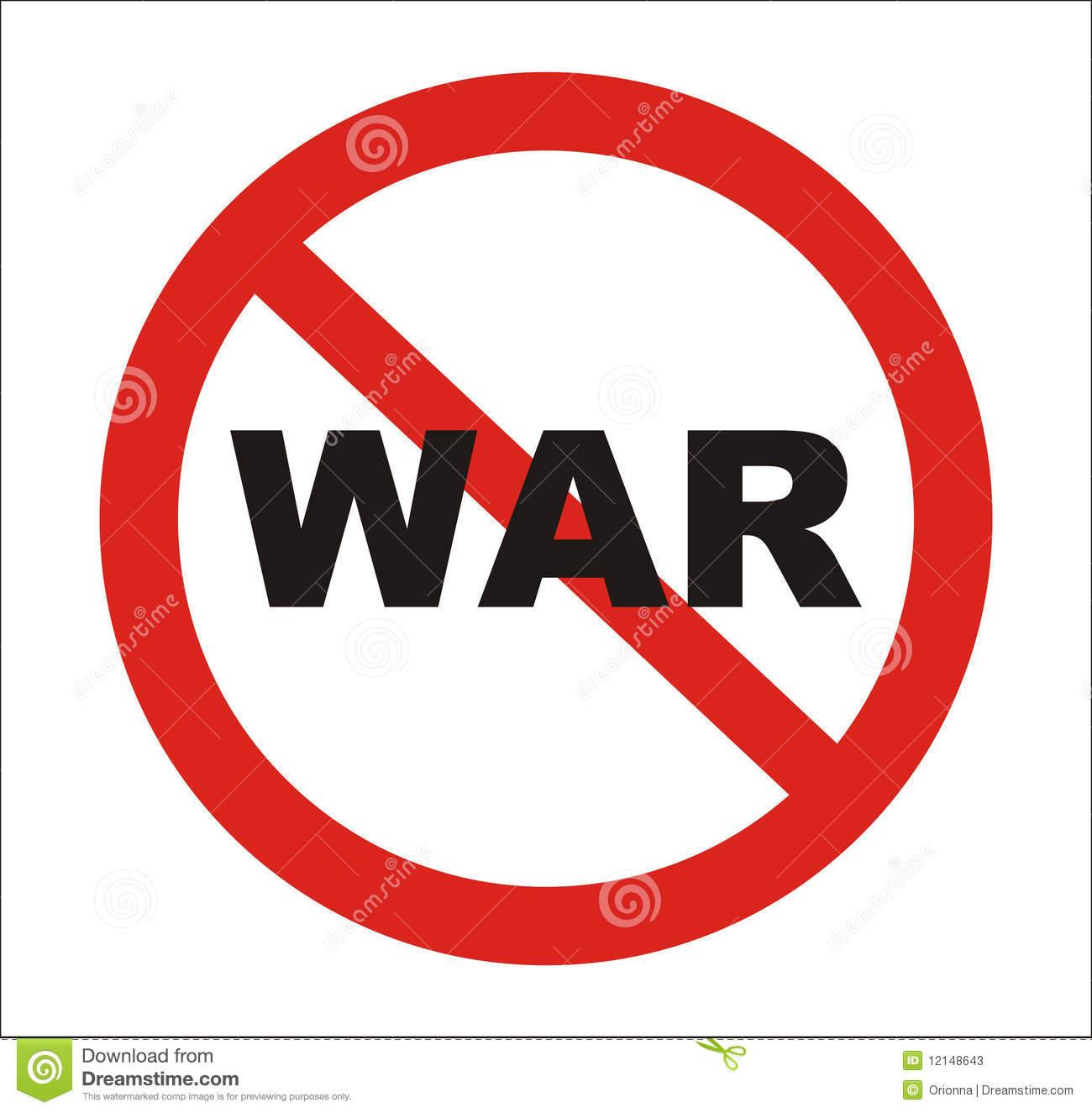 Anti war clipart.