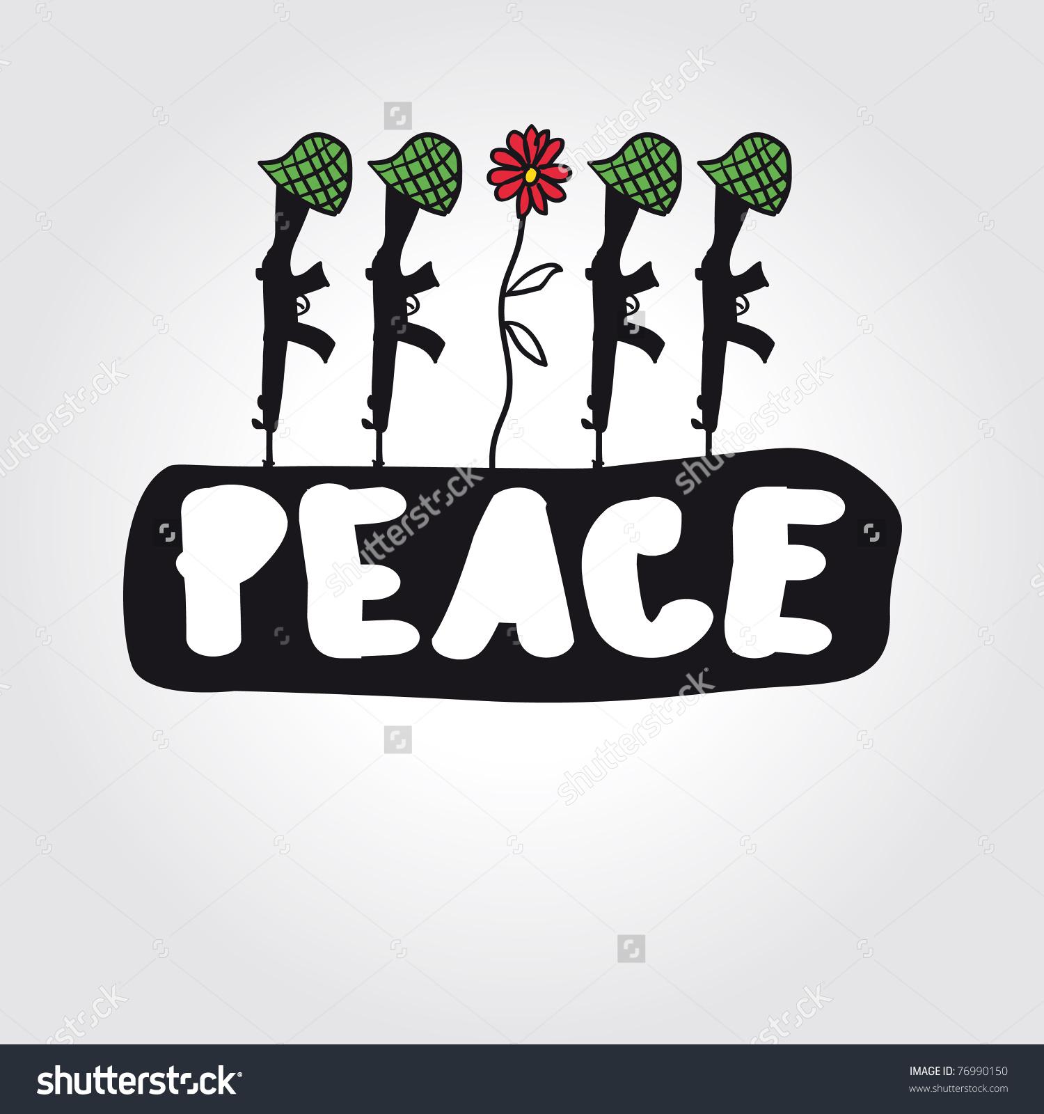 Vector Peace Concept Symbol Antiwar Stock Vector 76990150.
