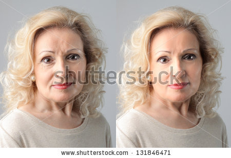Anti wrinkle face clipart #3