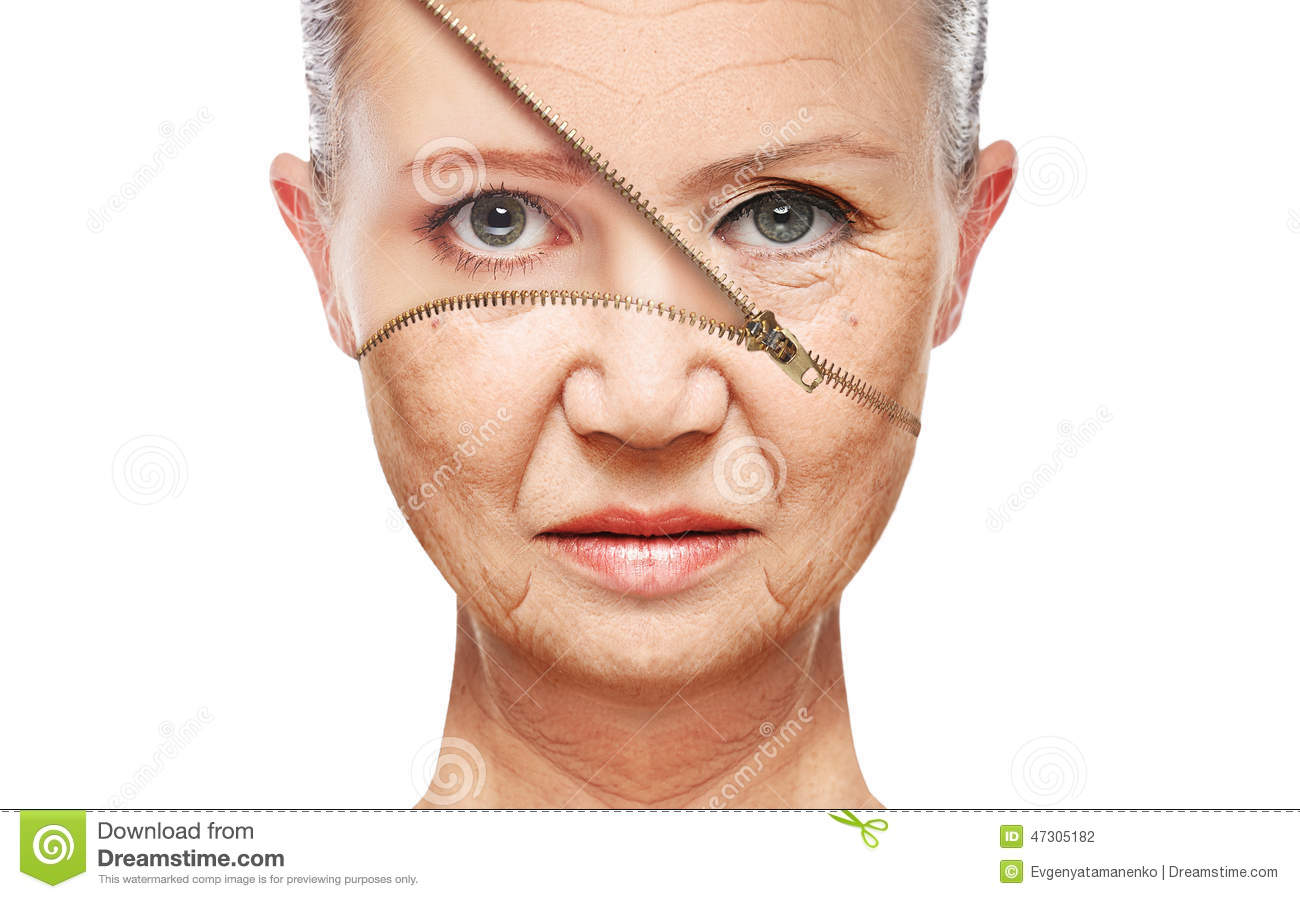 Concept Skin Aging. Anti.