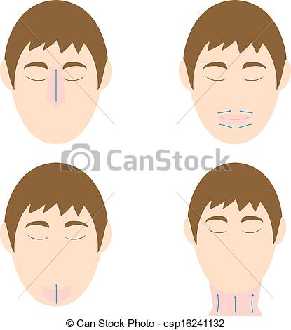 Vectors of Man easy massage anti face wrinkle 2 csp16241132.