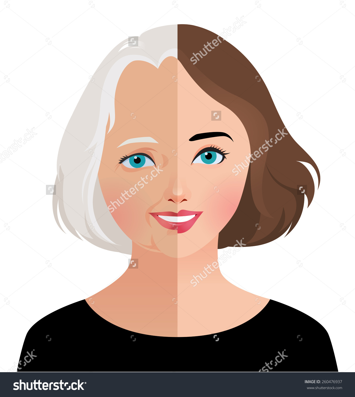 Stock Vector Illustration Beauty Skin Care Stock Vector 260476937.